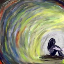 'Girl at the end of a tunnel,' A.R. Monko / Shutterstock.com
