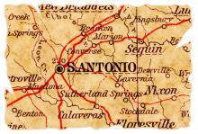 Map of San Antonio. Image courtesy Pontus Edenberg/shutterstock.com.