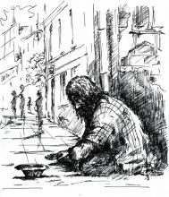 Poverty illustration, DeepGreen/ Shutterstock.com