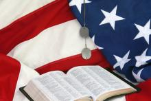 American flag and open Bible. Image by Susan Law Cain /Shutterstock.