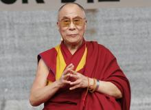 The Dalai Lama speaks to supporters in Berlin. Image courtesy vipflash/shutterst
