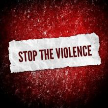 Stop the violence illustration, background Eky Studio / Shutterstock.com