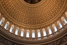 Dome inside the U.S. Capitol Building,