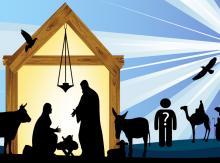 Nativity Scene Illustration, Shutterstock.com