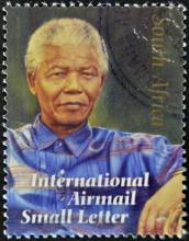 South African stamp of Nelson Mandela. Photo courtesy Neftali/shutterstock.com