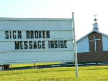 (Church sign image by Mark Lehigh/Shutterstock)