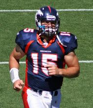 Tim Tebow. Image via http://bit.ly/rDAwpA
