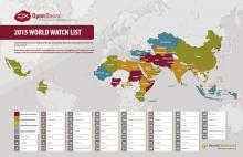 "Open Doors USA's 2015 ""World Watch List."" Image via Open Doors / RNS"