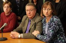 Joseph and Jane Clementi, parents of Tyler Clementi and their son, James