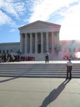 A view of the Supreme Court on Oct. 7, 2014. Photo via Lauren Markoe / RNS.