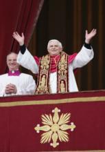 Pope Benedict XVI in 2005. RNS photo by Grzegorz Galazka.