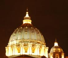 The dome of St. Peter's Basilica, Vatican City. Photo by Rene Shaw.
