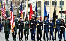 A Veterans Day parade.