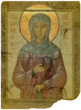 St. Xenia of St. Petersburg. Photo illustration by Cathleen Falsani with image B
