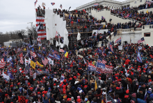 A mob of Trump supporters and insurrectionists storm the Capitol on Jan. 6.