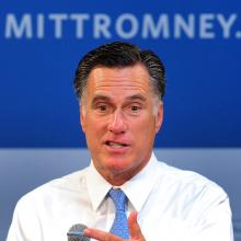 Mitt Romney, July 23, 2012. Photo by FREDERIC J. BROWN/AFP via Getty Images.