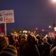 Rally after the decision not to indict Darren Wilson