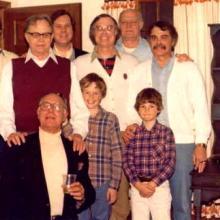 The author (center middle sans corduroy Sunday suit) circa 1980. Photo courtesy