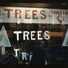 Trees and wreaths on display, circa 1941. Image via LOC http://bit.ly/u30Iyk