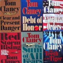 Tom Clancy novels, cdrummbks / Flickr.com
