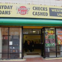 Payday Loans vendor, photo by Steve Rhodes / Flickr.com.