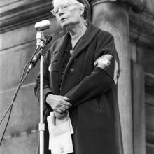 Circa 1969, American social activist Dorothy Day. Getty Images