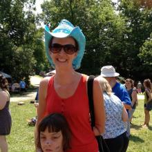 The author and her daughter at Wild Goose 2012. Photo by Jana Riess via Facebook