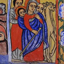 """Holy Family's flight to Ethiopia."" Image via http://bit.ly/w3Z2K9"
