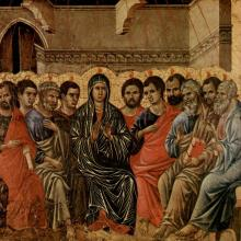 Pentecost depiction by Duccio di Buoninsegna via http://bit.ly/w3Q6IA