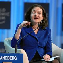Sheryl Sandberg, speaking at the World Economic Forum, via World Economic Forum