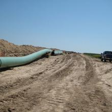 Keystone XL pipes in 2009. Image via Wiki Commons http://bit.ly/wetrWI