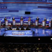 Republican presidential candidates' debate in Iowa last month