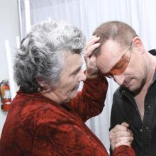 Sister Joan and Bono, 2008. Photo by Gold Wong/FilmMagic)/Getty.