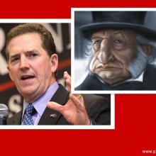 Sen. Jim Demint (L) and Ebenezer Scrooge (R)Photos via Wiki Commons,http://bit.