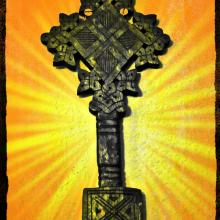 Ethiopian cross. Photo illustration by Cathleen Falsani.