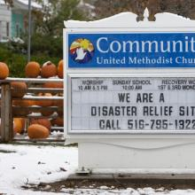 Church in Massapequa, N.Y. offers help. Photo courtesy of Mike DuBose.