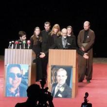 Funeral for slain teacher and student, photo via Christian Peacemaker Teams.