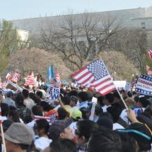 Immigration Reform Rally on April 10. Photo by Catherine Woodiwiss / Sojourners