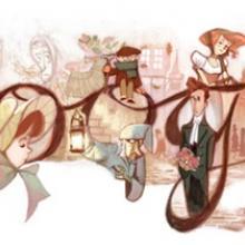 Google's Dickens doodle.