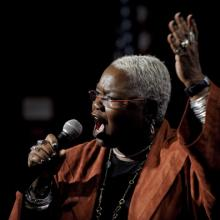 Dr. Ysaye Barnwell sings at the 2011 Search For Common Ground Awards/Getty Image