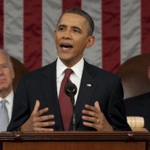 President Obama Addresses The Nation During State Of The Union Address via Getty