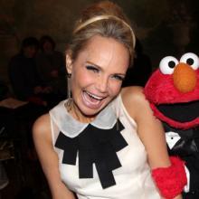 Mizz Chenoweth (with Elmo) at the Drama Desk Awards, 2012. Bruce Glikas/FilmMagi