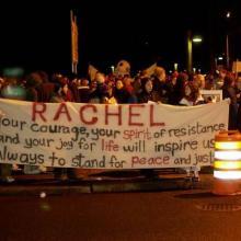 Rachel Corrie Memorial / Peace Vigil, Martin W. Kane / Wikimedia Commons
