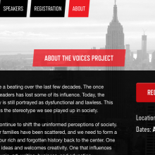 Screenshot from Voices Conference website