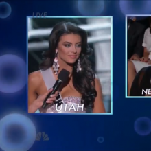 Screenshot from Q&A portion of Miss USA pageant