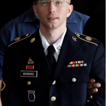Army Private Bradley Manning faces 35 years in prison, a judge ruled today. Phot