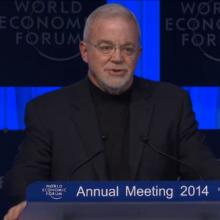 Jim Wallis speaking at the World Economic Forum