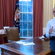 President Obama released a video with details of tonight's speech. Screen captur