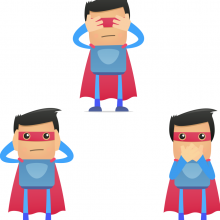 Insulated superhero. Vector concept courtesy artenot/shutterstock.comm