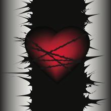The wounding heart. Image via SAnya85/shutterstock.com
